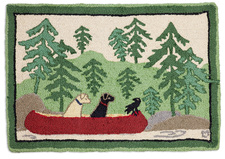 Dogs Day Out Hooked Accent Rug 2'x3' 965DOGSDAY.jpg