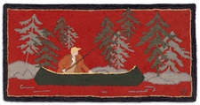 Fishing on the Battenkill Hooked Accent Rug 2'x4'  966FISHINGONTHEKILL.jpg