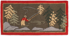 Fly Fisherman Hooked Accent Rug 2'x4' 966FLYFISHERMAN.jpg