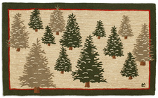 Frosted Trees Hooked Rug 3'x5'  935FROSTEDTREES.jpg