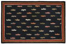 River Fish Hooked Rug 6'x9'  800RIVERFISH.jpg