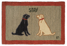 Stay Dog Hooked Accent Rug 2'x3'  965STAY.jpg