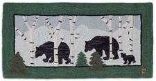 Three Bears in Birch Woods Hooked Accent Rug 2'x4' 966THREEBEARS.jpg