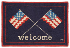Welcome Flags Hooked Accent Rug 2'x3'  965WELCOMEFLAGS.jpg