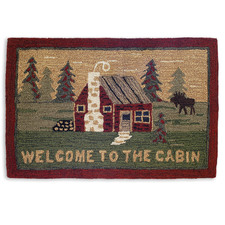 Welcome to the Cabin Hooked Accent Rug 2'x3'  965CABIN.jpg
