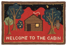Welcome to the Cabin on Red Hooked Accent Rug 2'x3' 965WELCOMECABIN.jpg