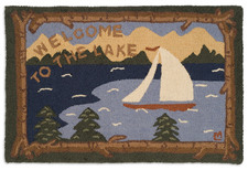 Welcome to the Lake Hooked Accent Rug 2'x3' 965WELCOMELAKE.jpg