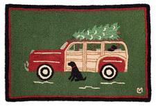 Woody Wagon Christmas Hooked Accent Rug 2'x3' 965WOODYWAGO.jpg